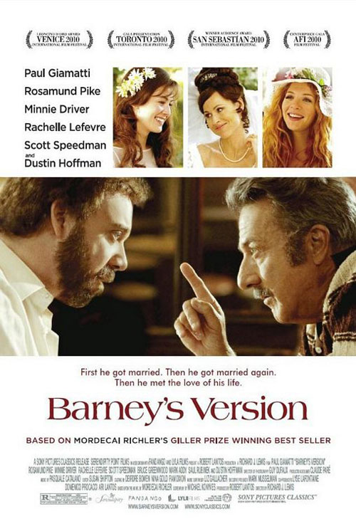 "U.S. movie poster for ""Barney's Version"" (2011)"