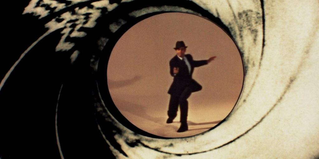The gun barrel sequence of James Bond
