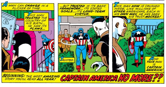 last panel from Captain America #175