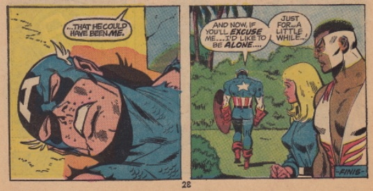 The last panels of Captain America #156