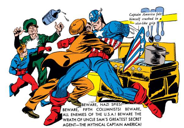 Image from Captain America #1, March 1941