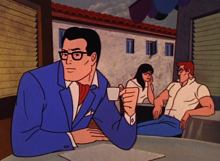 Clark Kent, with ascot and espresso, in Italy in 1966