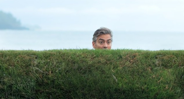 "George Clooney, hamming it up, in Alexander Payne's ""The Descendants"" (2011)"
