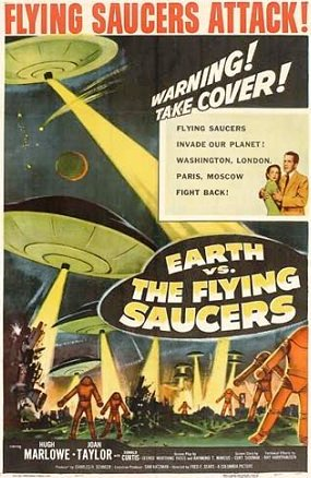 "Poster for ""Earth vs. the Flying Saucers"" (1956)"