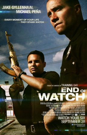 "Poster for ""End of Watch"" (2012), written and directed by David Ayer"