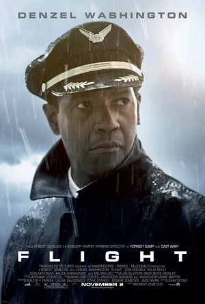 "Poster for ""Flight,"" starring Denzel Washington"