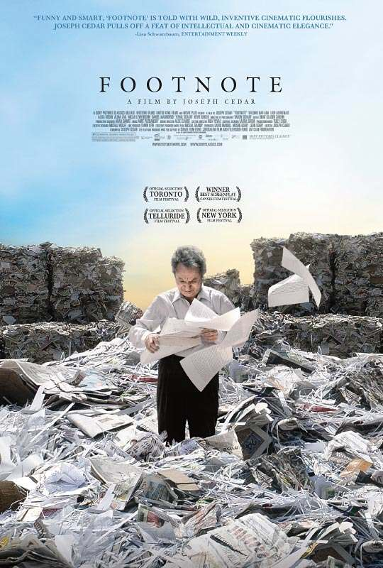 "U.S. poster for ""Footnote"" (2011)"