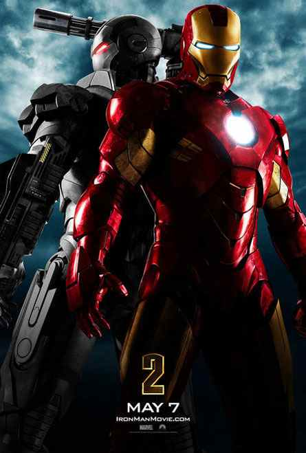 "poster for ""Iron Man 2"" starring Robert Downey, Jr."