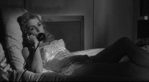 "Janet Leigh in bed in ""Touch of Evil"" (1958)"
