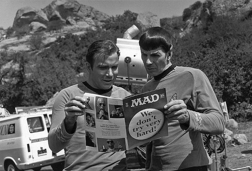 Capt. Kirk, Mr. Spock, and Mad Magazine