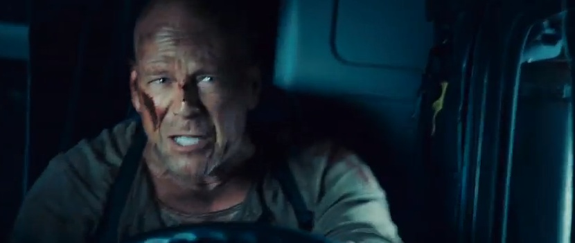 "John McClane (Bruce Willis) in ""Live Free or Die Hard"""