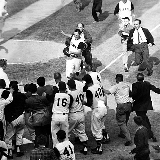 Bill Mazeroski's homerun in the bottom of the 9th inning of Game 7 of the 1960 World Series, to beat the NY Yankees as requested by former GM Branch Rickey