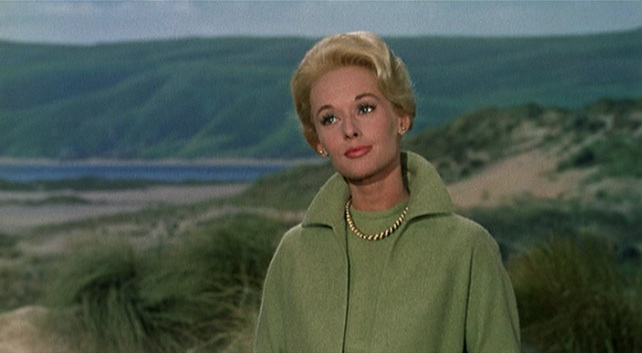 "Tippi Hedren in a scene from ""The Birds"""