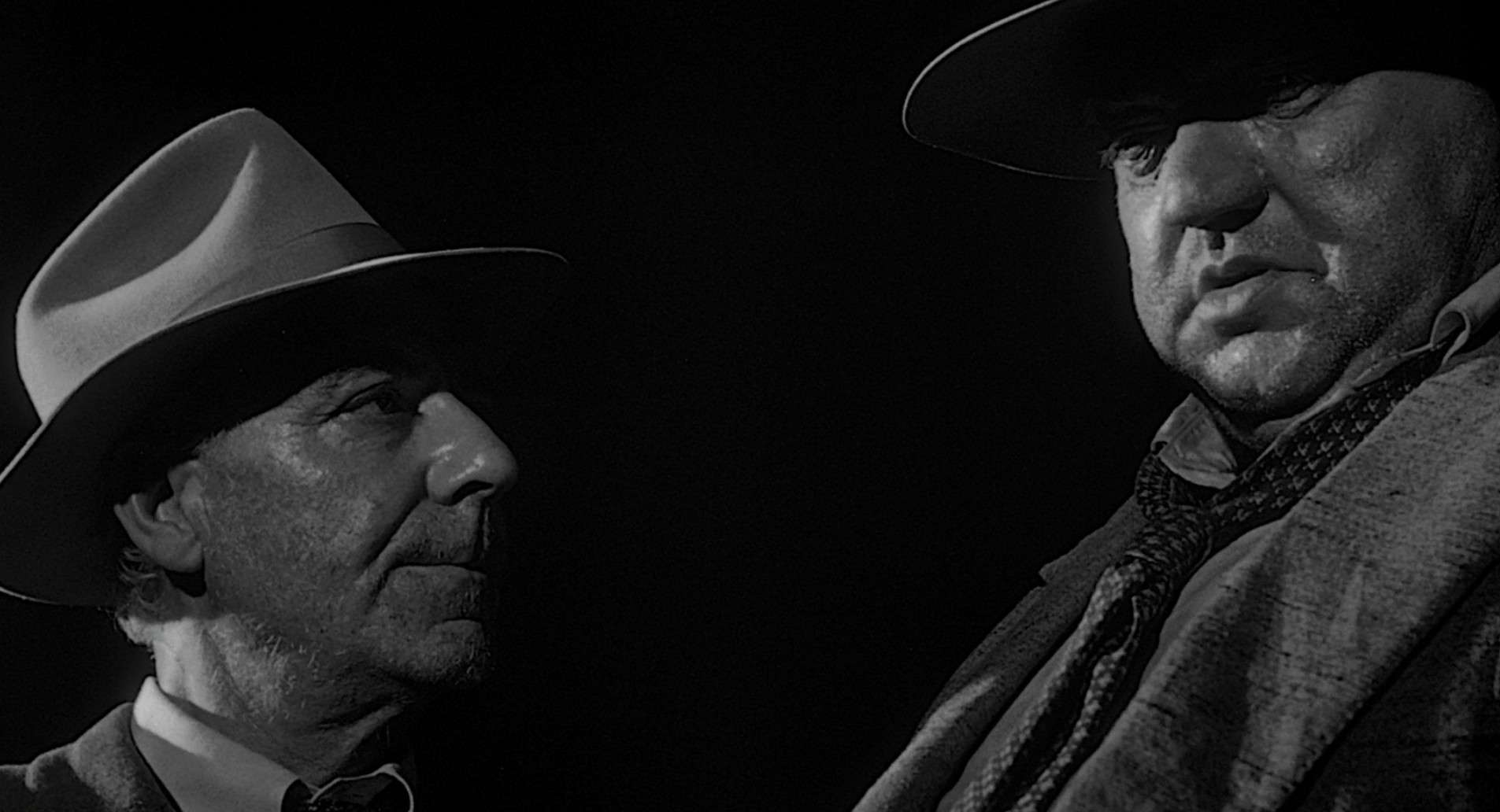 "Sgt. Pete Menzies and Capt. Hank Quinlan in Orson Welles' ""Touch of Evil"" (1958)"