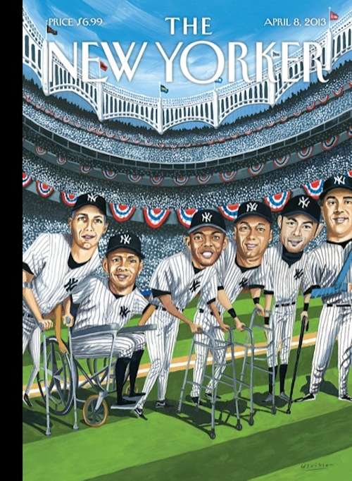 New Yorker cover: Old Yankees