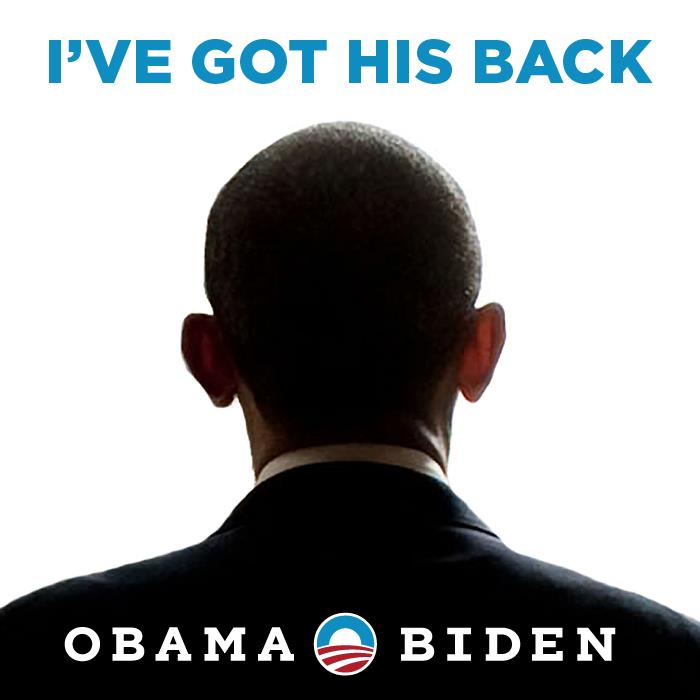 I've got his back: Obama 2012