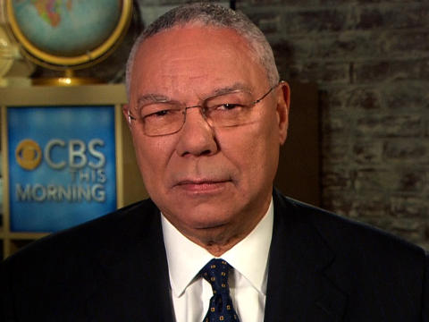 Colin Powell endorsing Barack Obama for President