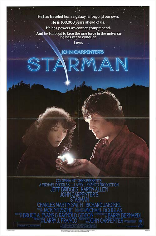 "Movie poster for ""Starman"" (1984)"