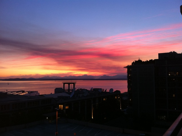 Sunset over Puget Sound: September 4, 2011