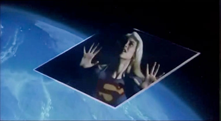 Supergirl (Helen Slater) trapped in the Phantom Zone