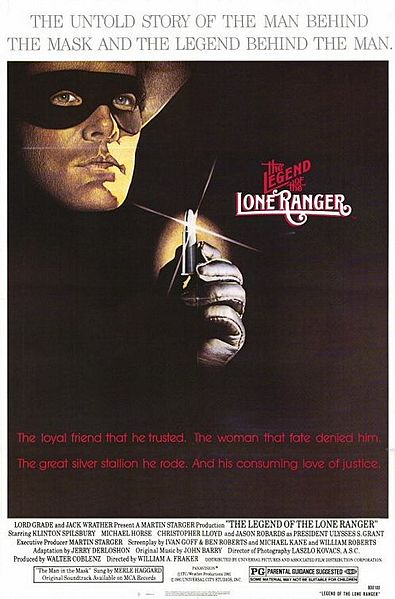 "Poster for ""The Legend of the Lone Ranger"" (1981), starring Klinton Spilsbury"
