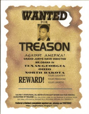 Obama: Wanted for treason